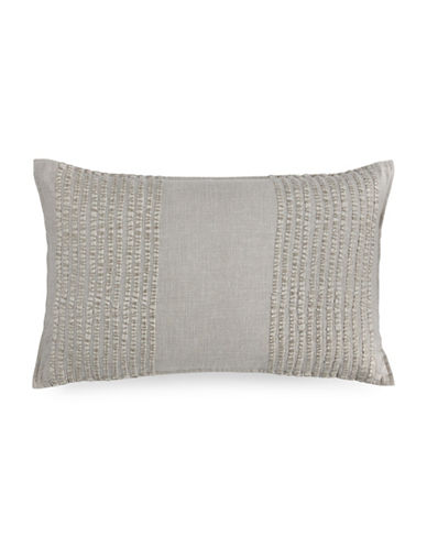Hotel Collection Eclipse Embroidered Stripe Pillow-GREY-20x20