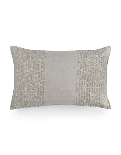 Hotel Collection Eclipse Embroidered Striped Decorative Pillow-GREY-One Size