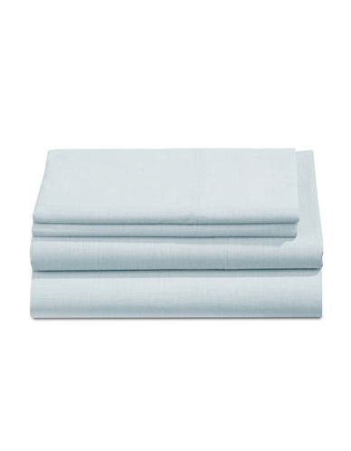 Martha Stewart Four-Piece Yarn Dye 200 Thread Count Sheet Set-BRIGHT BLUE-King