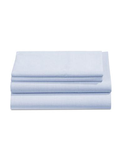 Martha Stewart Four-Piece Yarn Dye 200 Thread Count Sheet Set-BLUE-Queen