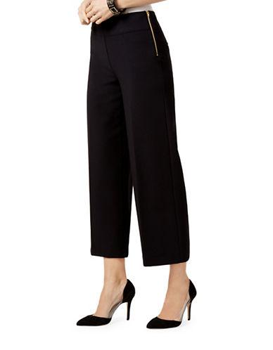 I.N.C International Concepts Cropped Wide-Leg Pants-BLACK-4 plus size,  plus size fashion plus size appare
