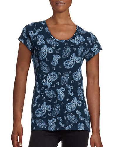 Style And Co. Essential Paisley T-Shirt-BLUE-Medium 88548719_BLUE_Medium