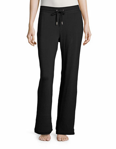 Style And Co. Cotton-Blend Lounge Pants-BLACK-Large 88651378_BLACK_Large