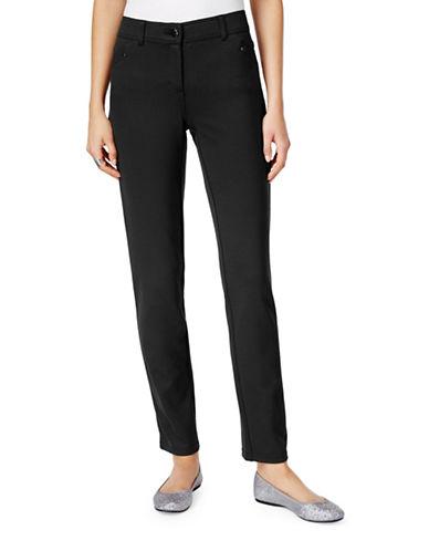 Style And Co. Ponte Slim-Leg Pants-BLACK-8