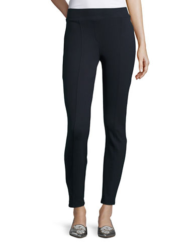 Style And Co. Petite Seam-Front Ponte Leggings-BLUE-Petite Medium