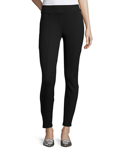 Style And Co. Petite Seam-Front Ponte Leggings-BLACK-Petite Large 88550609_BLACK_Petite Large