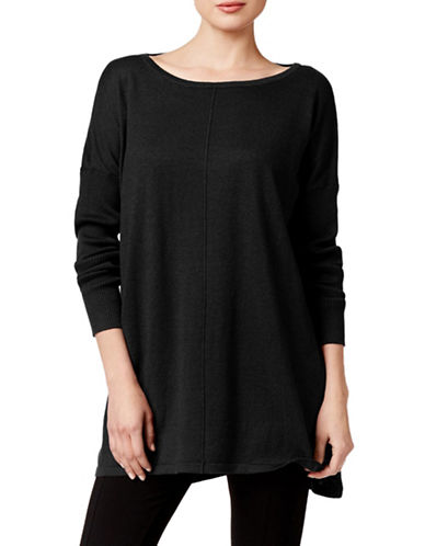 Style And Co. Dolman-Sleeve Tunic Sweater-BLACK-X-Large 88559916_BLACK_X-Large