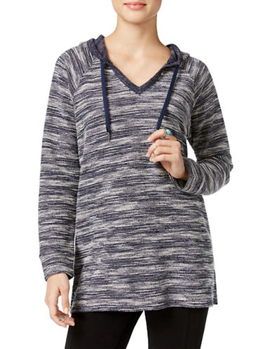Style And Co. Marled-Knit Hoodie-BLUE-X-Large 88618984_BLUE_X-Large