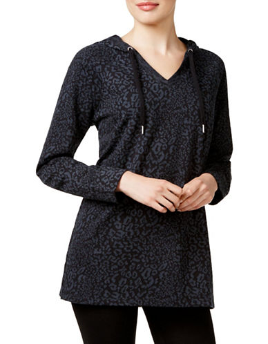 Style And Co. Animal-Print Jacquard Hoodie-BLACK-Small 88618985_BLACK_Small