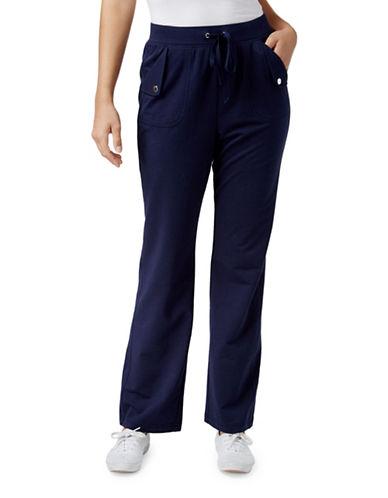 Karen Scott Pull-On Drawstring Pants-BLUE-X-Large 88800547_BLUE_X-Large