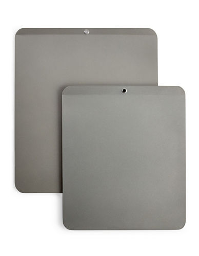 Martha Stewart Two-Piece Insulated Air Cookie Sheet Set-METAL-One Size