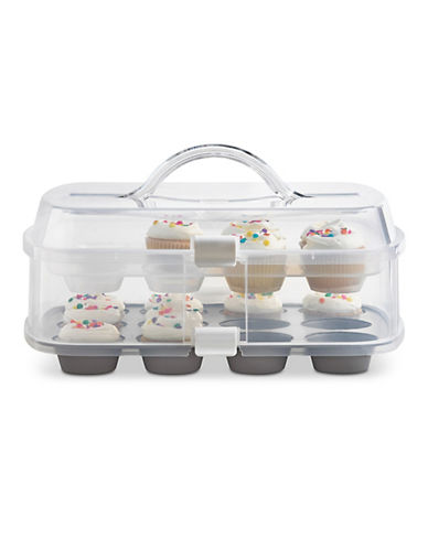 Martha Stewart Two-Tier Cupcake Carrier-CLEAR-One Size