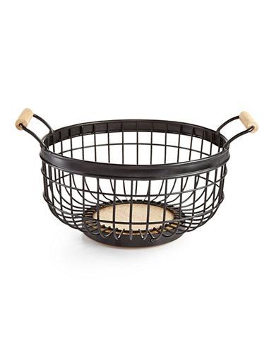 Martha Stewart Wire Basket-BLACK-One Size