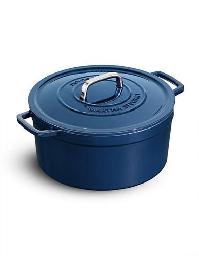 Martha Stewart Enameled Cast Iron 6qt Round Casserole-BLUEBERRY-One Size