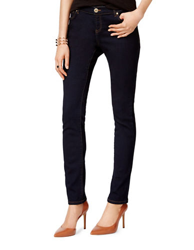 I.N.C International Concepts Petite Tikglo Wash Skinny Jeans-BLUE-Petite 0