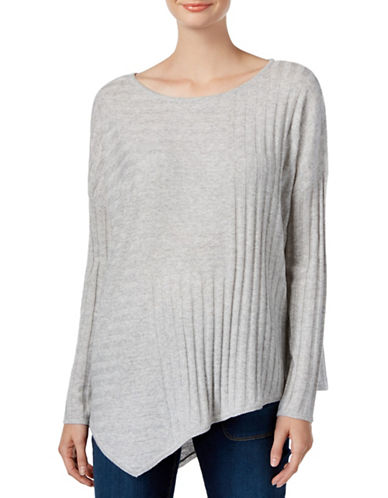 I.N.C International Concepts Asymmetrical Wool-Blend Tunic Sweater-GREY-Medium 88700837_GREY_Medium