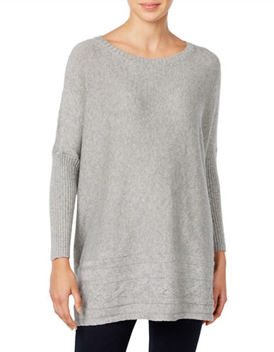 Style And Co. Ribbed Cable-Knit Sweater-GREY-Medium 88721903_GREY_Medium