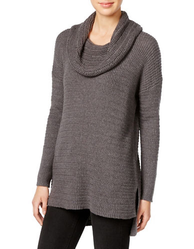 Style And Co. Cowl Neck Tunic Sweater-GREY-Large 88721932_GREY_Large