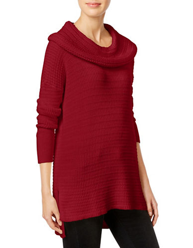 Style And Co. Cowl Neck Tunic Sweater-RED-X-Large 88721929_RED_X-Large