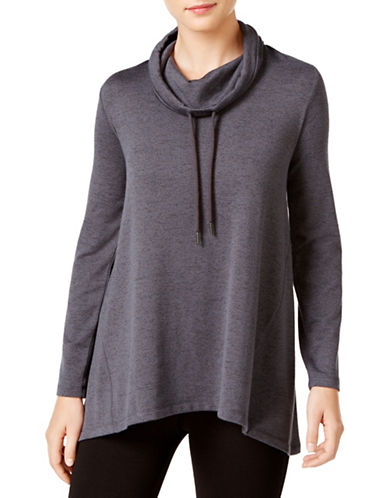 Style And Co. Melange Funnel Neck Sweater-GREY-Small 88723895_GREY_Small