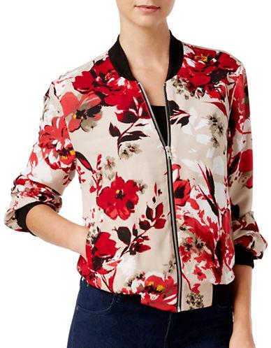 I.N.C International Concepts Floral Printed Bomber Jacket-WHITE MULTI-Medium 88734605_WHITE MULTI_Medium