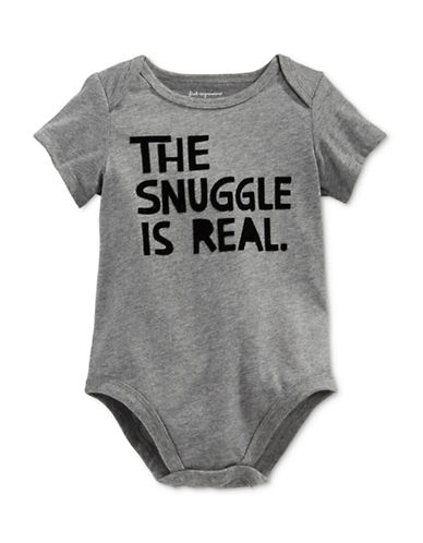 First Impressions The Snuggle Is Real Bodysuit-GREY-6-9 Months
