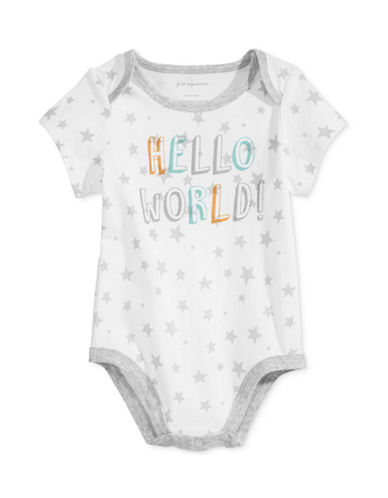 First Impressions Hello World Bodysuit-WHITE-24 Months