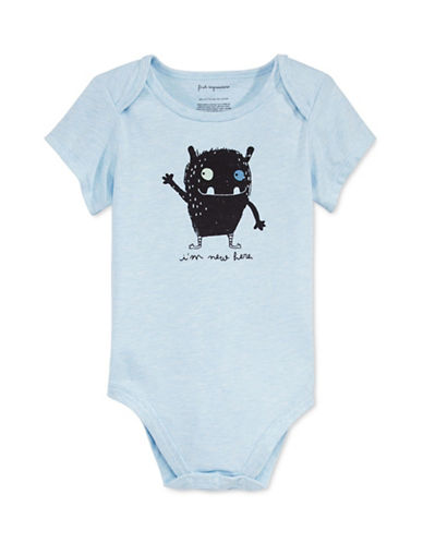 First Impressions Im New Here Bodysuit-BLUE-12 Months