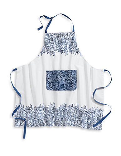 Martha Stewart Stockholm Apron-BLUE-One Size