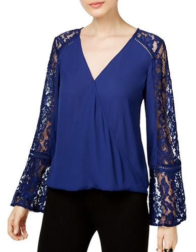 I.N.C International Concepts Long Sleeve Lace-Insert Top-BLUE-Large 88880350_BLUE_Large