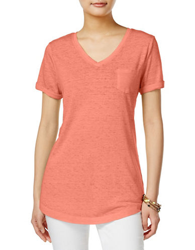 Style And Co. Burnout Tee-PINK-Large 88866960_PINK_Large