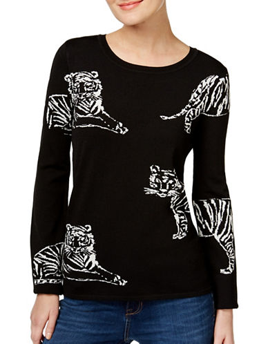 I.N.C International Concepts Tiger Pullover-BLACK-Large 88880412_BLACK_Large