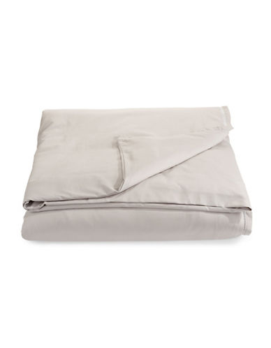 Hotel Collection Ladder Stitch Duvet Cover-GREY-King