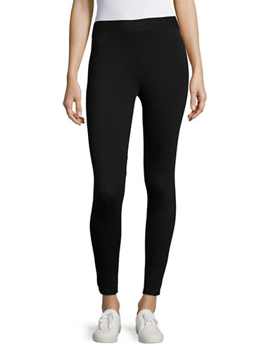 Style And Co. Petite Stretch-Cotton Leggings-BLACK-Petite Large