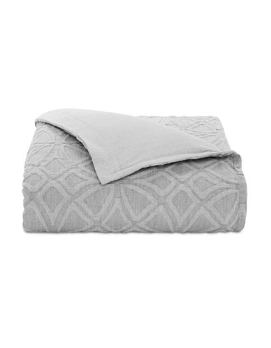 Hotel Collection Connections Reversible Duvet Cover-GREY-King