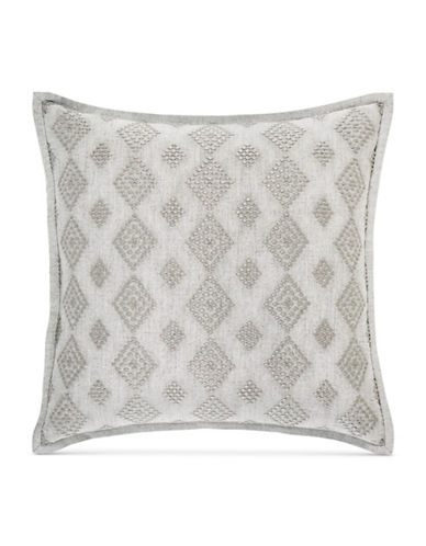 Hotel Collection Connection Square Diamond Cushion-GREY-18x18