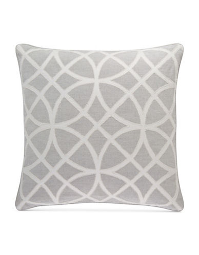 Hotel Collection Connection Square Medallion Cushion-GREY-One Size