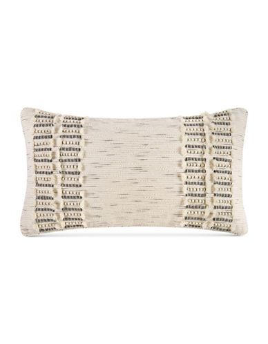 Hotel Collection Connection Fringed Cushion-BEIGE-One Size