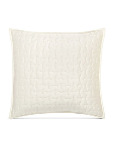 Hotel Collection Connection Quilted Euro Sham-WHITE-European