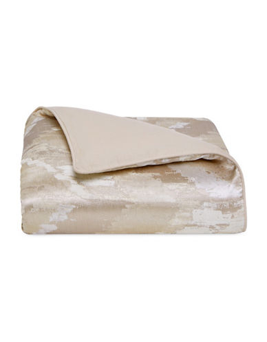 Hotel Collection Distressed Chevron Duvet Cover-GOLD-Queen