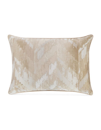 Hotel Collection Distressed Chevron Sham-GOLD-King