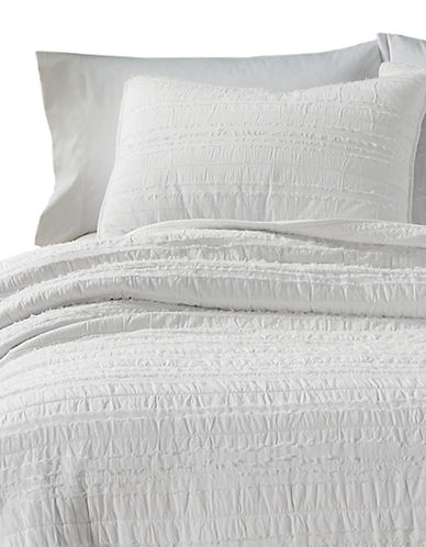 Martha Stewart Eyelash Stripe  Quilt-WHITE-King