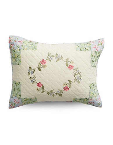 Martha Stewart Cornflower Diamond Quilted Sham-GREEN-Standard