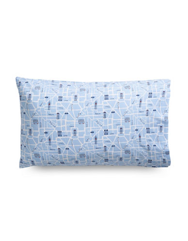 Martha Stewart Whim London Landmark 200 Thread-Count Two-Piece Standard Pillowcase Set-BLUE-Standard
