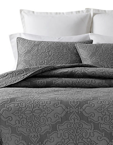 Martha Stewart Gilded Age Reversible Quilt-GREY-King
