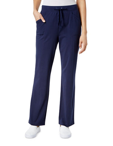 Karen Scott Drawstring Track Pants-BLUE-Large 88979233_BLUE_Large