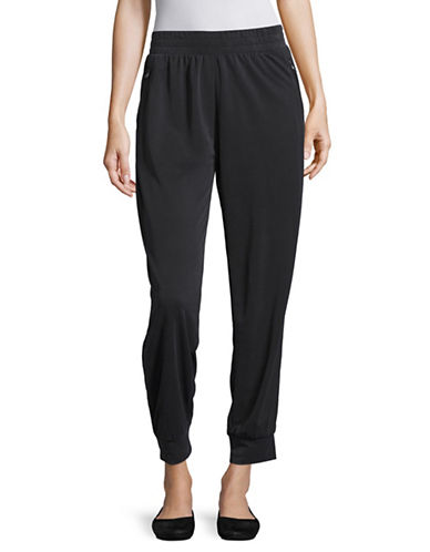Style And Co. Zip Joggers-BLACK-Medium 88953591_BLACK_Medium