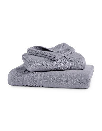 Martha Stewart Spa Solid Cotton Washcloth-MOURNING DOVE-Washcloth
