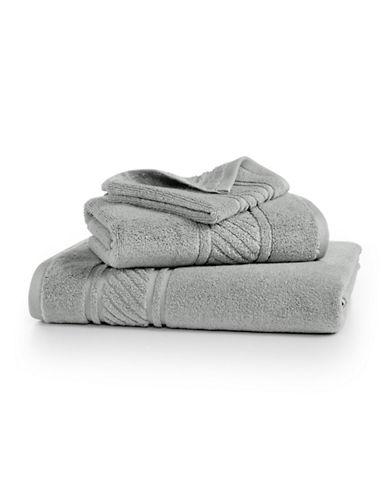 Martha Stewart Spa Solid Cotton Washcloth-SILVER PEARL-Washcloth