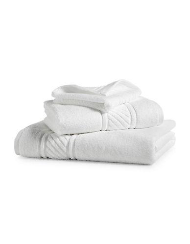 Martha Stewart Spa Solid Cotton Washcloth-MERINGUE-Washcloth